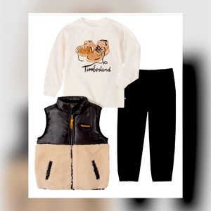 Timberland Toddler Berber Vast, Tee, & Twill Pants